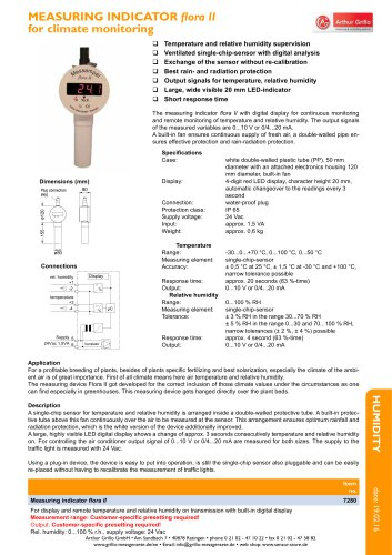Flora II - measuring indicator for climate monitoring