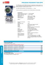 GPM - prozess transmitter - 1
