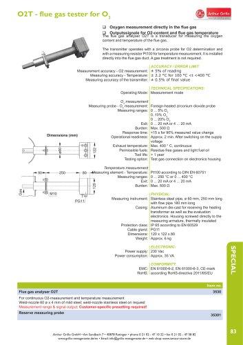 O2T - flue gas tester for O2