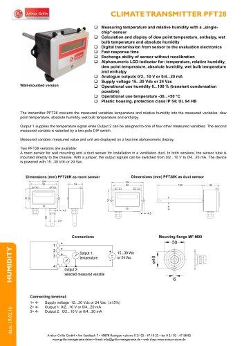 PTF28 - climate transmitter