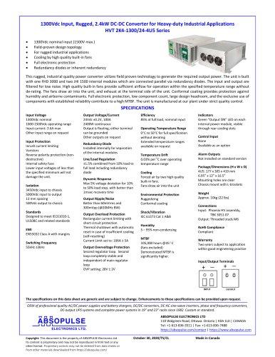 HVT 2K4-1300/24-4U5 Series