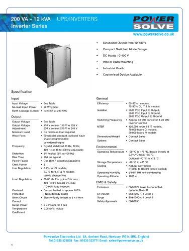 CI-I-IT-IV-SS (AC) Series
