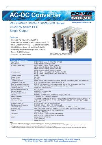 PAK75-PAK200 Series