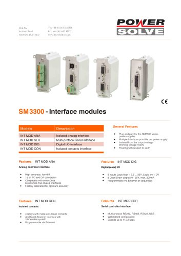 sm3300-interfaces