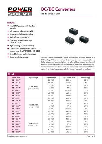 TRACO TES1V Series