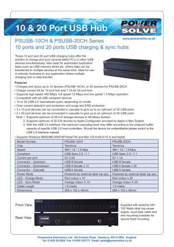 USB 10 20 Port USB Hub