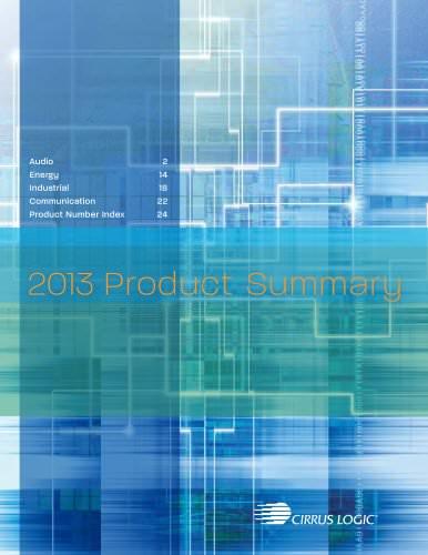 2013 Cirrus Logic Product Summary