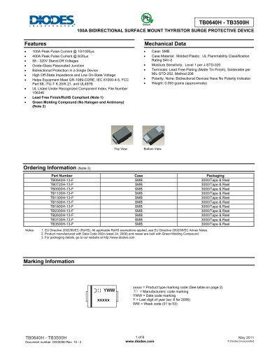 Protection devices Thyristor TB0640H