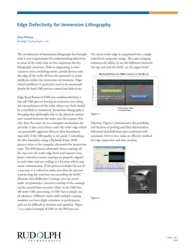 Edge Defectivity for Immersion Lithography