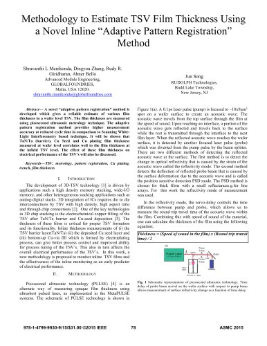 "Methodology to Estimate TSV Film Thickness Using a Novel Inline ""Adaptive Pattern Registration"" Method"