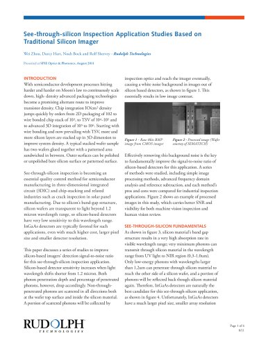 See-through-silicon Inspection Application Studies Based on Traditional Silicon Imager