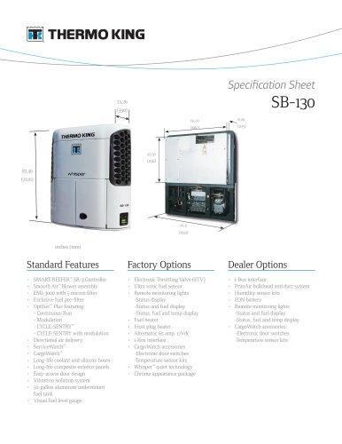 SB-130 Spec Sheet - Thermo King - PDF Catalogs | Technical