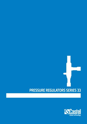 PRESSURE REGULATORS SERIES 33
