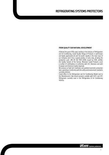 REFRIGERATING SYSTEMS PROTECTORS