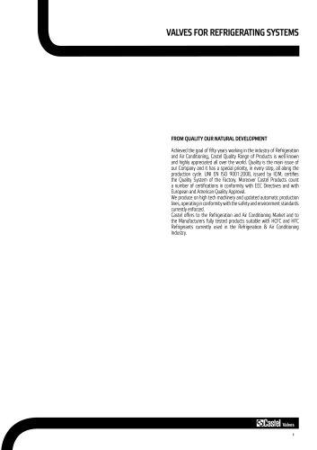 VALVES FOR REFRIGERATING SYSTEMS