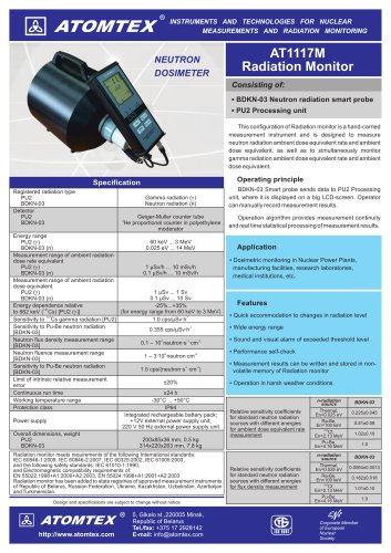 AT1117M Radiation Monitor (Neutron Dosimeter)