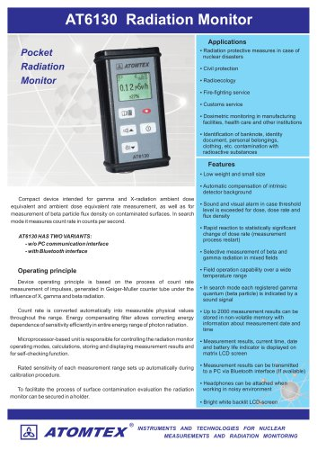 AT6130 Radiation Monitor
