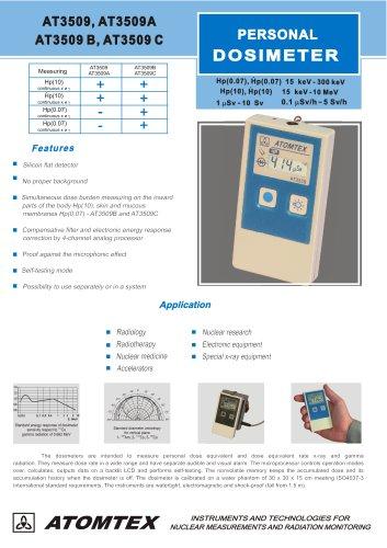 personal gamma radiation dosimeter
