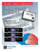 C D - 7 0 0 Flexible Modular Solution A Quartz Stabilized PLL