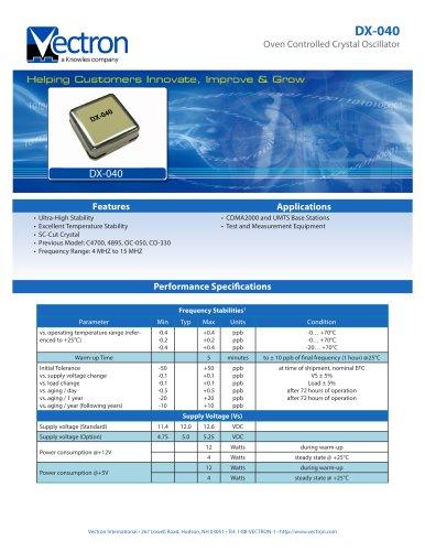 DX-0400-DAJ-4001 Holdover Oscillators