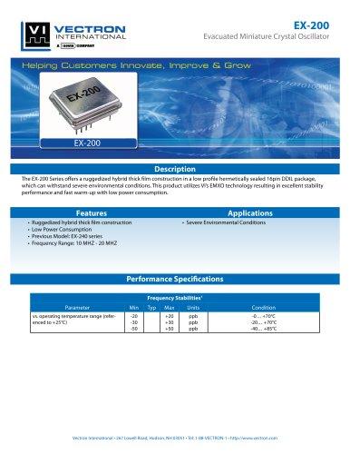 EX-200 Evacuated Miniature Crystal Oscillator (EMXO)