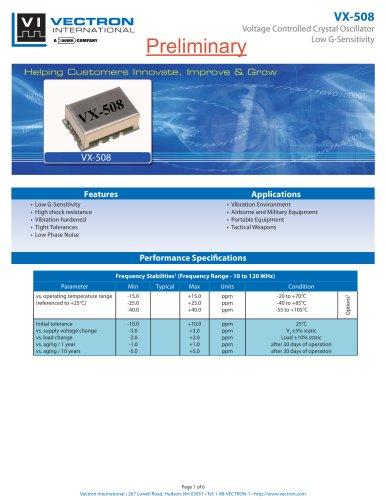 VX-508 Voltage Controlled Crystal Oscillators (VCXO)