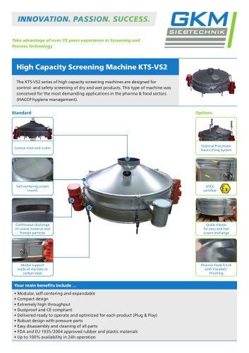 High Capacity Screening Machine KTS-VS2