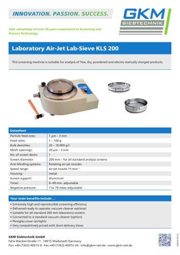 Laboratory Air-Jet Lab-Sieve KLS 200