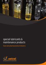 special lubricants & maintenance products food industry