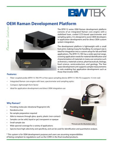 BTR115 OEM Raman Development Platform