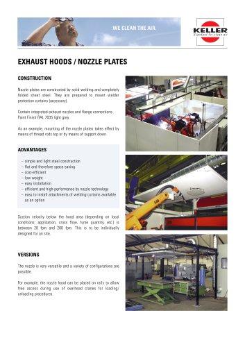 Exhaust hoods/nozzle plates