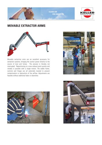 Movable extractor arms