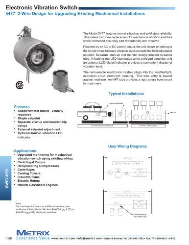 [XOTG_4463]  5477B Electronic Vibration Switch - Metrix Instrument Co. - PDF Catalogs    Technical Documentation   Brochure   Vibration Switch Wiring Diagram      Catalogs Directindustry