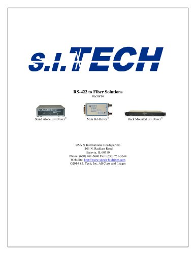 RS-422 to Fiber Solutions