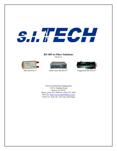 RS-485 to Fiber Solutions