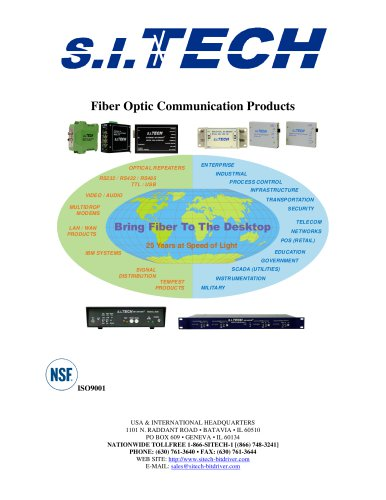 S.I. Tech 25th Anniversary Catalog