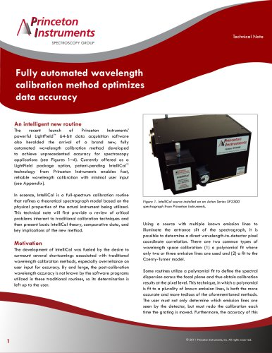 Fully automated wavelength calibration method optimizes