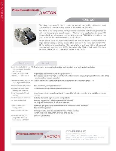 PIXIS-XO Product Flyer