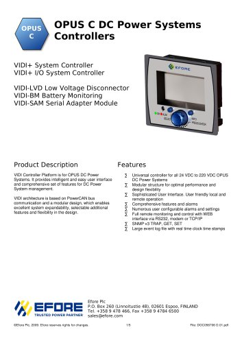 OPUS C DC Power Systems Controllers