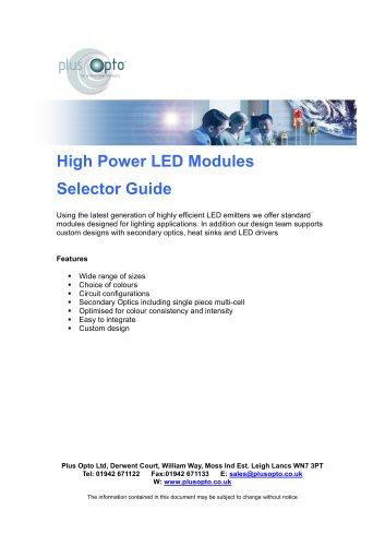 High Power LED Modules Cat v1.0