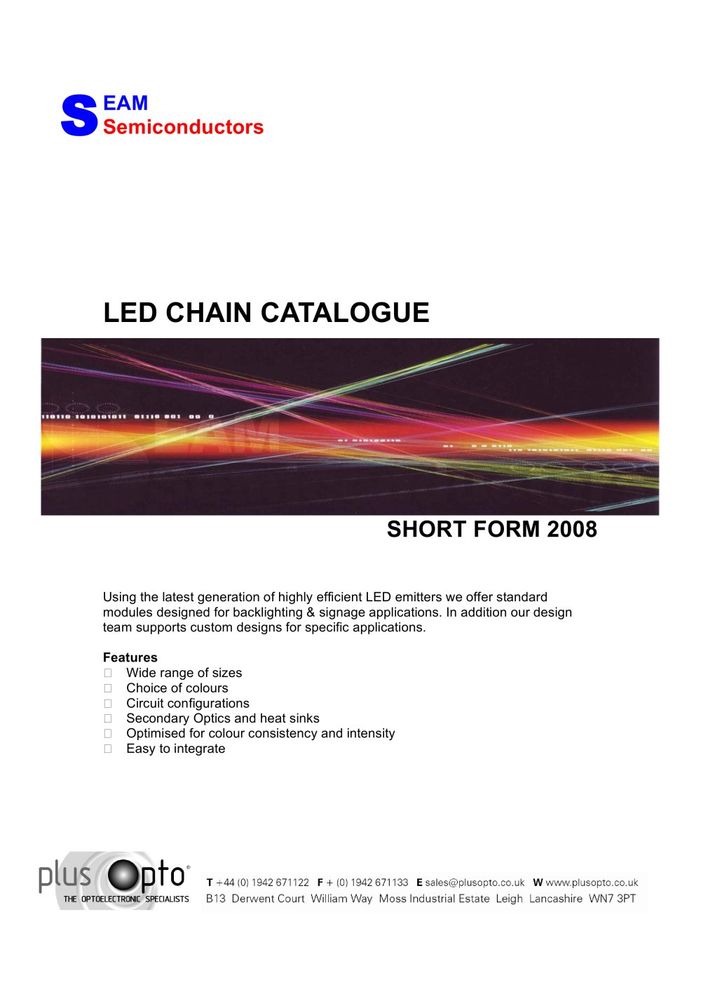 Led Chain Catalogue Plus Opto Pdf Technical How To Make A Circuit Version 1 9 Pages
