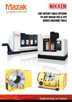 CNC ROTARY TABLE BROCHURE FOR MAZAK VCS & VTC VERTICAL MACHINING CENTRES - 1