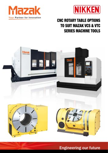 CNC ROTARY TABLE BROCHURE FOR MAZAK VCS & VTC VERTICAL MACHINING CENTRES