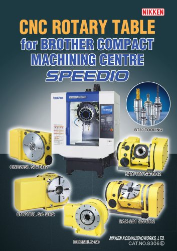 NEW CNC ROTARY TABLE BROTHER SPEEDIO CATALOGUE
