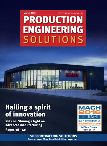PES MARCH 2016 - HAILING A SPIRIT OF INNOVATION