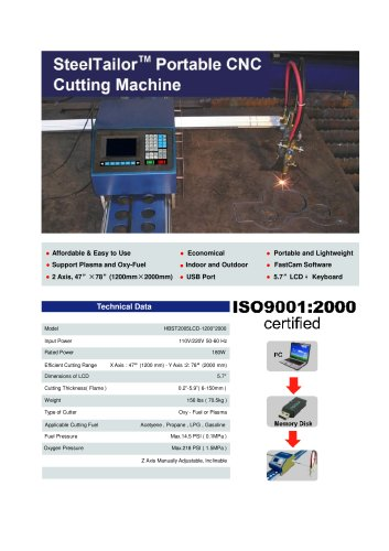 Portable CNC Cutting Machine for Plasma and Oxy-Fuel ---SteelTailor P