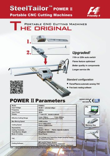 Power II Portable CNC Cutting Machines with QR Code