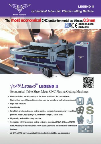 Sheet Metal Plasma Cutting Machine with QR Code