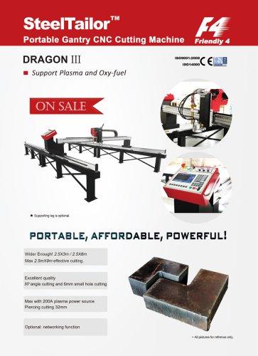 SteelTailor DRAGON III portable gantry CNC cutting machines