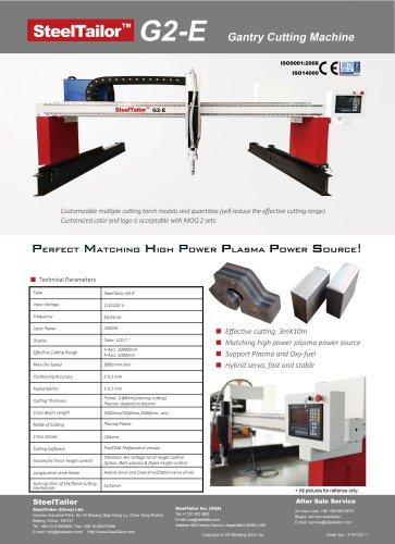 SteelTailor G2-E gantry cutting machine